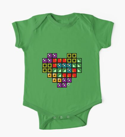 Tetris-Heart One Piece - Short Sleeve