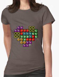 Tetris-Heart Womens Fitted T-Shirt