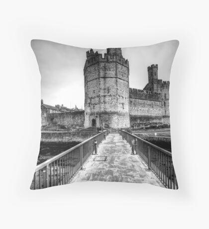 Caernarvon Castle Throw Pillow