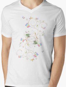 Rainbow Butterflies Mens V-Neck T-Shirt