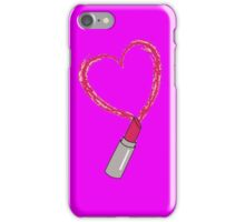 Lipstick Heart iPhone Case/Skin