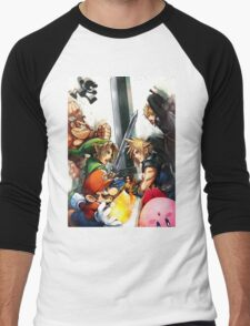Smash 4 Cloud Reveal Illustration Men's Baseball ¾ T-Shirt
