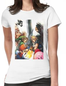 Smash 4 Cloud Reveal Illustration Womens Fitted T-Shirt