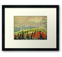 The Blue Ridge. Framed Print