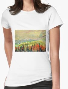 The Blue Ridge. Womens Fitted T-Shirt