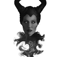 Maleficent: B&W by HYRenee