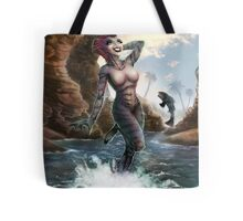 Gill Gal from the Black Lagoon - Color Version Tote Bag