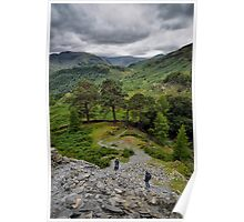 Views From Castle Crag Poster
