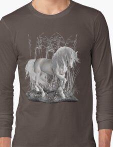Ivory .. a white stallion Long Sleeve T-Shirt