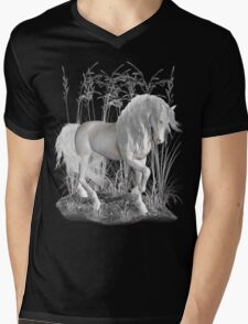 Ivory .. a white stallion Mens V-Neck T-Shirt