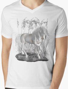 Ivory .. a white stallion Mens V-Neck T-Shirt