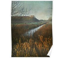 Claxton Marshes Poster