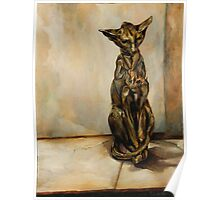 Still Life with Cat Sculpture Poster