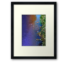 Ducks on patrol | waterscape photography Framed Print