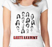 Grey's anatomy-B/W Women's Fitted Scoop T-Shirt