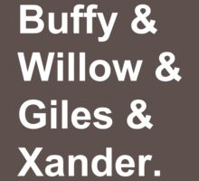 Buffy & Willow & Giles & Xander. Kids Clothes