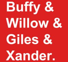 Buffy & Willow & Giles & Xander. Baby Tee