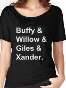 Buffy & Willow & Giles & Xander. Women's Relaxed Fit T-Shirt