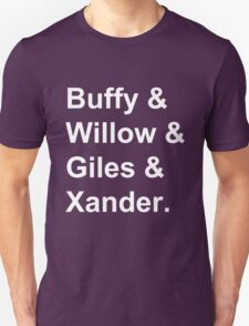 Buffy & Willow & Giles & Xander. T-Shirt