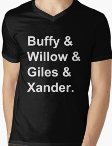 Buffy & Willow & Giles & Xander. Mens V-Neck T-Shirt