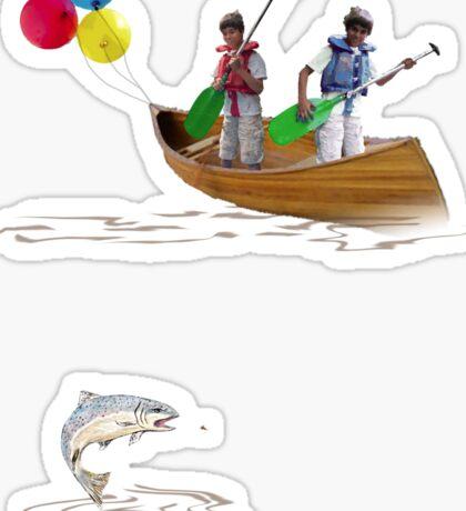Tee: Canoe with Pooh Sticker