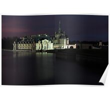 Chantilly, the castle, Oise, France. Poster
