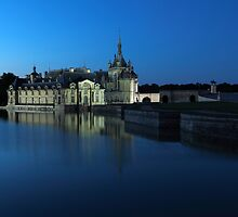 Chantilly, the castle in blue, Oise, France. by remos