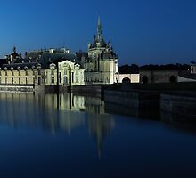 Chantilly, the castle at dusk, Oise, France. by remos