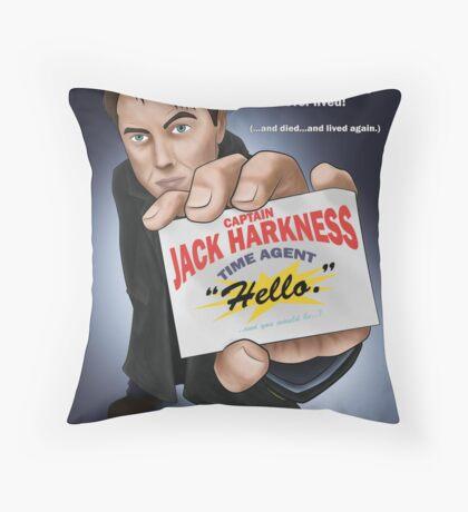 Captain Jack Harkness - Time Detective Throw Pillow