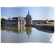 Chantilly, the castle in the morning, Oise, France. Poster