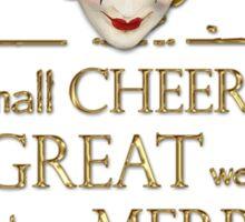 Shakespeare Comedy Of Errors Feast Quote Sticker