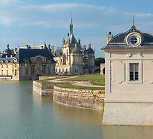 Chantilly, the castle and the little house, Oise, France. by remos