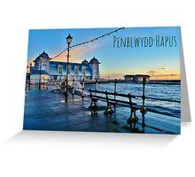 Cerdyn Penblwydd Pier Penarth Greeting Card