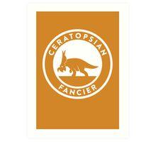 Ceratopsian Fancier Print Art Print
