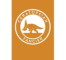 Ceratopsian Fancier Print Photographic Print