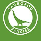Sauropod Fancier Print by David Orr