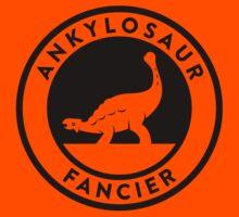 Ankylosaur Fancier Tee (Black on Light) Kids Tee