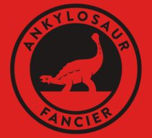 Ankylosaur Fancier Tee (Black on Light) Kids Clothes