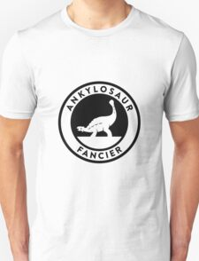 Ankylosaur Fancier Tee (Black on Light) Unisex T-Shirt