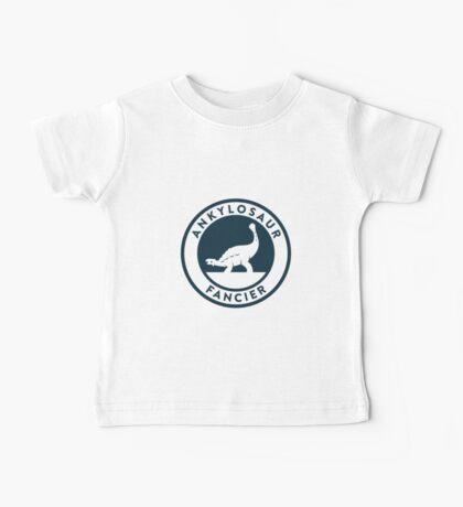 Ankylosaur Fancier Tee (Blue on White) Baby Tee