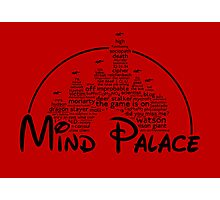 Mind Palace - (black text) Photographic Print