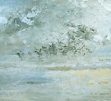 The meeting of sea, sky and beach by Linda Ridpath