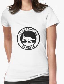 Ceratopsian Fancier Tee (Black on Light) Womens Fitted T-Shirt