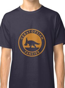Ceratopsian Fancier Tee (Mustard on White) Classic T-Shirt