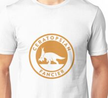 Ceratopsian Fancier Tee (Mustard on White) Unisex T-Shirt