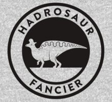 Hadrosaur Fancier (Black on Light) Kids Clothes