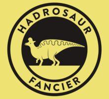 Hadrosaur Fancier (Black on Light) Kids Clothes
