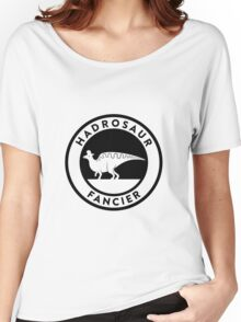 Hadrosaur Fancier (Black on Light) Women's Relaxed Fit T-Shirt