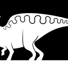 Hadrosaur Fancier (Black on Light) Sticker