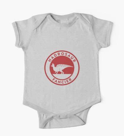 Hadrosaur Fancier (Red on White) Kids Clothes